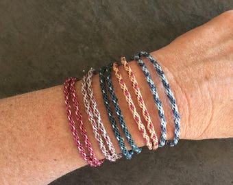 Kumihimo Necklace / Double Wrap Bracelet