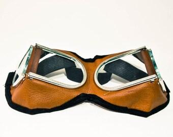 SALE Brown Goggles, Steampunk Goggles, Protective Glasses