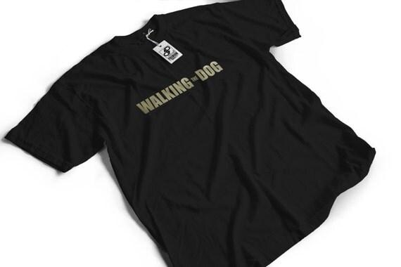 Walking the Dog T-Shirt - The Walking Dead Shirt