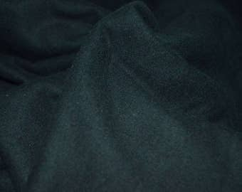 "1.5 yards Black Flannel Cotton fabric 40""Wide"