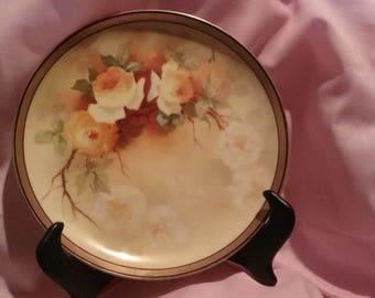 Vintage Limoges Floral Collectors Plate