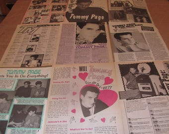 TOMMY PAGE CLIPPINGS  #0308
