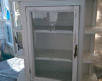 XL Vintage Curio Display Cabinet