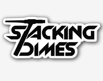 Stacking Dimes Sticker - 3-Pack