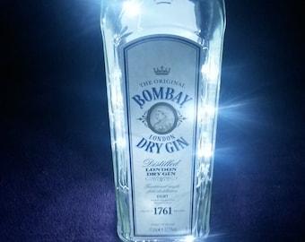 Bombay Dry Gin Upcycled Battery Powered White LED Light Lamp (1L)