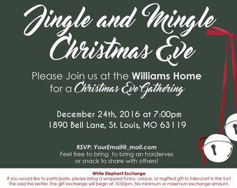 Jingle and Mingle Invitations