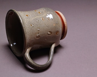 Handmade Ceramic Shino Mug (10 oz.)