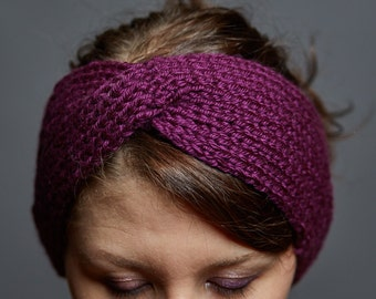 Cozy Knit Twist Headband // Earwarmer // Handmade