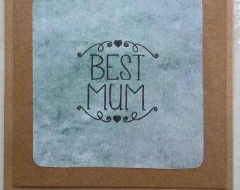 Best mum handmade card