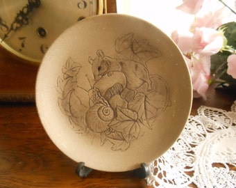 Poole Pottery Wildlife Series Mouse and Snail Plate
