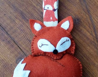animal felt keychains