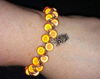 Glow goddess owl bracelet