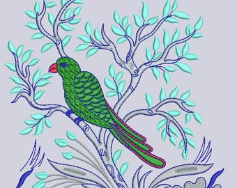 Parrot Machine Embroidery Design , Parrot Embroidery Design,Paadar Club