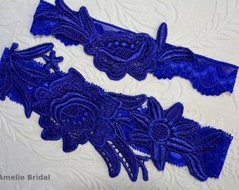 Blue Garter, Wedding Garter, Blue Wedding Garter,Wedding Garter Set, Cobalt Blue Garter, Wedding Garter Blue, Blue Garters, Wedding Clothing