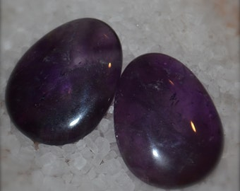 Healing Crystals Indented Worry Thumb Stones