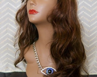 synthetic double wefted wig