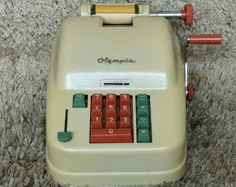 Olympia | Mechanical Printing Calculator | Made in Western Germany | 1950's | Mechanische Rechenmaschine | FREE Shipping* | Adding Machine