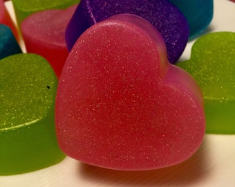 Sparkle Heart Soaps