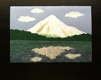 Handmade Origami Mt. Hood Card