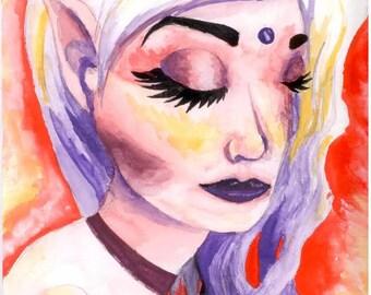 Original Watercolor Painting - Contemplate