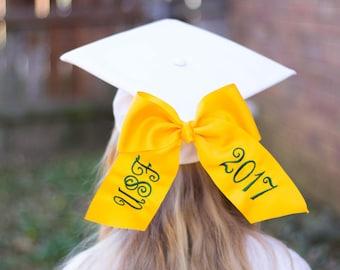 Custom Graduation Cap Bow -School/Year