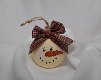 Snowman Christmas Tree Ornament - Christmas Tree Decor - Snowman Decor- Holiday Decor