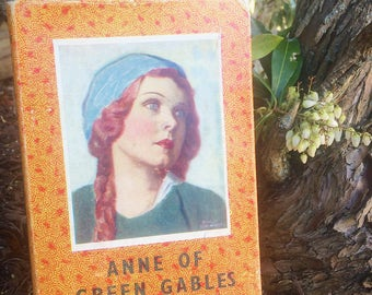 SOLD - Vintage book timeless classic Anne of Green Gables by L M Montgomery BEAUTIFUL portrait cover, 1966 rare edition, highly collectible