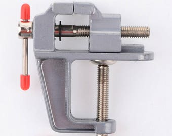 1PCS Mini Aluminum Bench Table Swivel Lock Clamp Vice Craft Jewelry Hobby Vise