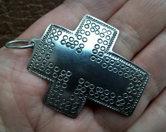 Vintage MEXICO 925 sterling Silver Large cross