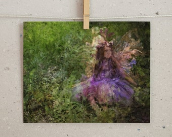 Fairy Wall Art, Original Painting, Fairy Painting, Fairy Print, Fantasy Painting, Fairy Artwork, Flower Fairy Print, Digital Print