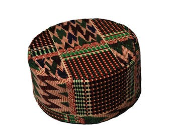 african print kente hat // african hat // african kufi // kufi hat // african print hat // kente hat // kente kufi