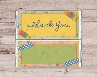 Children's Thank You Chocolate Bar-Teacher Thank You Candy Bar-Kindergarten Graduation Chocolate Bar-Elementary Graduation Candy Bar