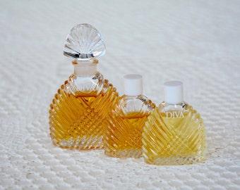 Diva Eau de Parfum, Ungaro Inc, 7.5 ml, 5 ml, Vintage Perfume, Fragrances, Made in France, Mini Perfume Bottle, Miniature, Vintage Bottle