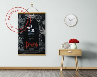 BRAM STOKER'S DRACULA - Poster on Fabric, Gary Oldman, Winona Ryder, Keanu Reeves, Pull down Poster, Fabric Poster, Print on Canvas