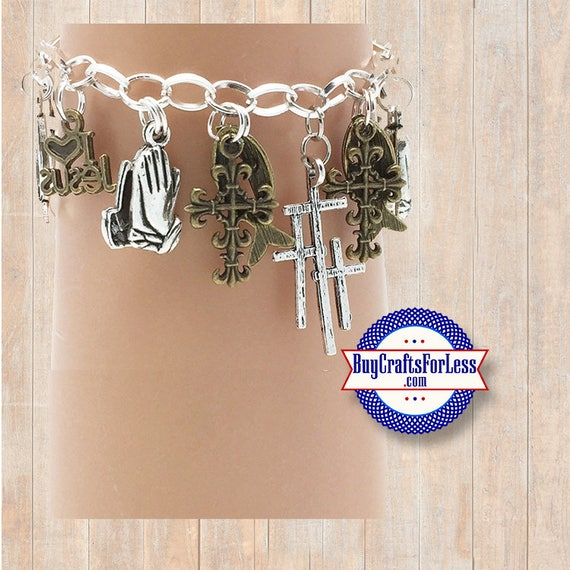 CHRISTIAN Faith Charm bracelet, Very Nice - **FREE SHIPPING**