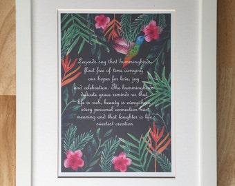 A4 Hummingbird Print