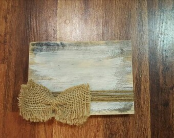 Wooden photo display