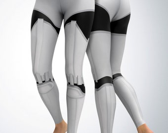 Leggings / Yoga Pants - Yoga Capri / - Storm Trooper Leggings