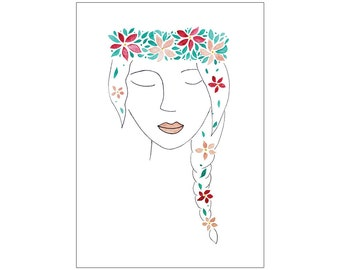 DISCONTINUED Flower Girl print, various sizes