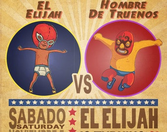 Lucha Libre Cute Kid Birthday Party Invitation / Wrestling / Luchador custom invitation