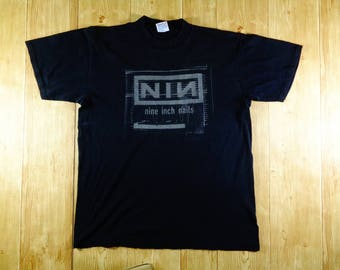 20% OFF Vintage 1998 Nine Inch Nail NIN Band TShirt By Halo Holding Corp