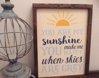 You Are My Sunshine Wall Decor spring wall decor | etsy