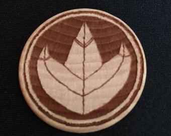 Power Rangers Green Ranger Dragonzord Engraved Birch Wooden Power Coin