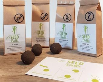 Herbal package of Seedbombs - 4 small bags of Seedballs