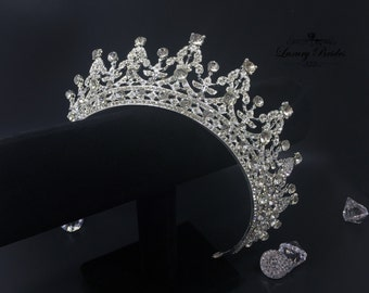 Bridal Tiara, Swarovski Crystal Tiara, Princess Tiara, Wedding Tiara, Crystal Wedding Crown, Bridal Crown, Luxury crown, Wedding Crown