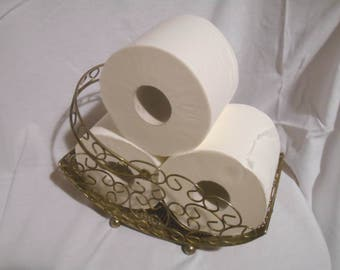 Sterling Silver Tone Toilet Paper Holder