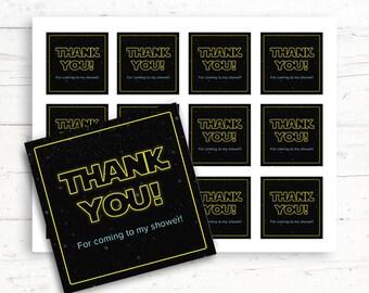 Star Wars Baby/Bridal Shower Printable Favor Tags, Printable Thank You Tags, Digital Download