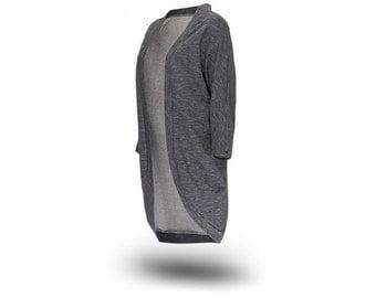 Sweatshirt Cardigan Oversized Sweater More Grey.