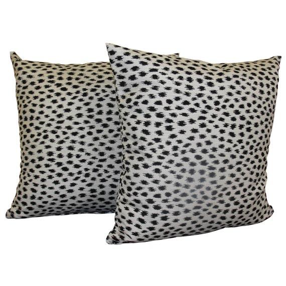 Animal Print Throw Pillow Covers : SET OF 2 Sunbrella AGRA Throw Pillow Covers Animal Print