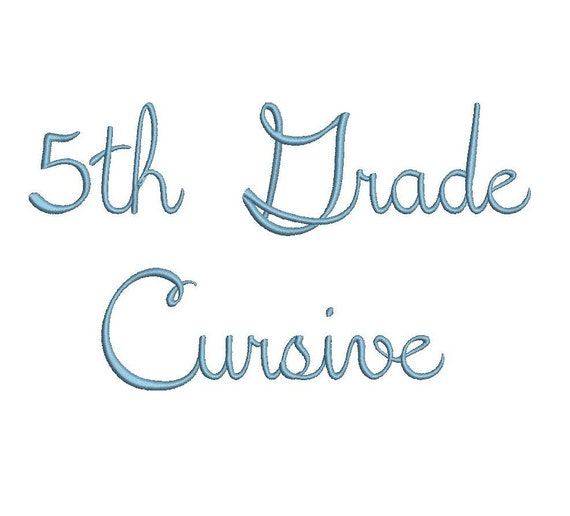 Th grade cursive embroidery font formats dst exp pes jef